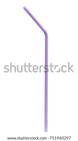 colorful plastic drinking straws isolated over the white background #751960297