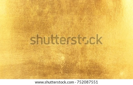 Shiny yellow leaf gold foil texture background #752087551