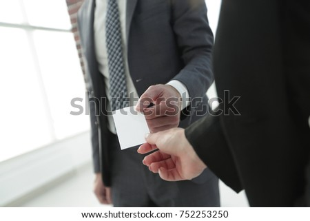 Exchange business card for first time meet #752253250