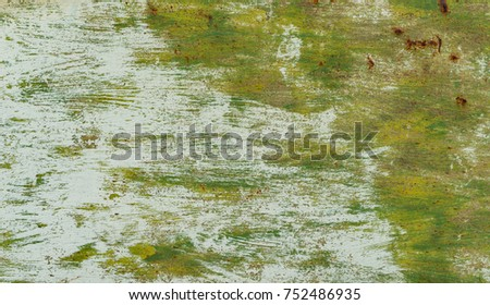Texture - sheets of rust-colored metal are painted in green #752486935