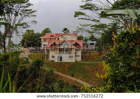 Village area at the island of Mahe. Seychelles islands #752516272