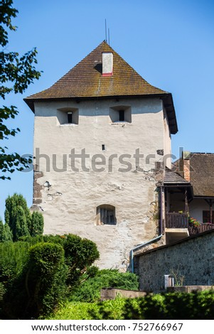 Zvolen, Slovakia. 06 AUGUST 2015. Zvolen castle (Zvolensky zamok). Zvolen castle was built by Louis I of Hungary. The castle was rebuilt many times #752766967