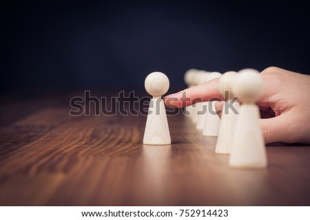 Leader leave his comfort zone and get out of the crowd. Personal development, motivation and challenge concepts. Royalty-Free Stock Photo #752914423