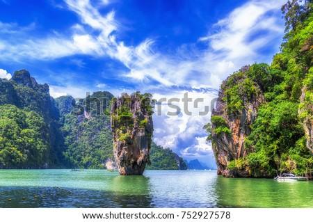 james bond island  jamesbond island  phuket thailand #752927578