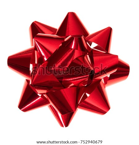 Red bow isolated on white background  #752940679