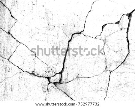 White black grey concrete wall, floor with cracks, texture background Royalty-Free Stock Photo #752977732