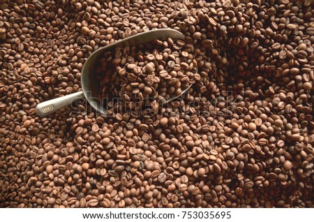 roasting coffee neans  #753035695