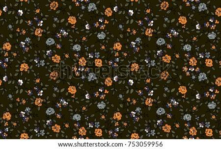 seamlles cute samll floral pattern #753059956