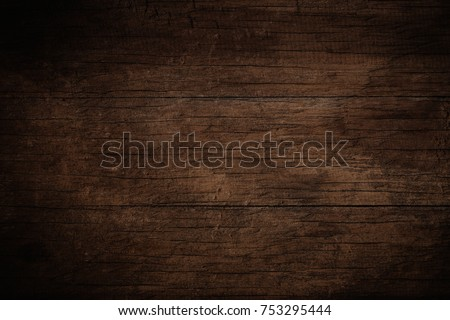 Old grunge dark textured wooden background,The surface of the old brown wood texture #753295444