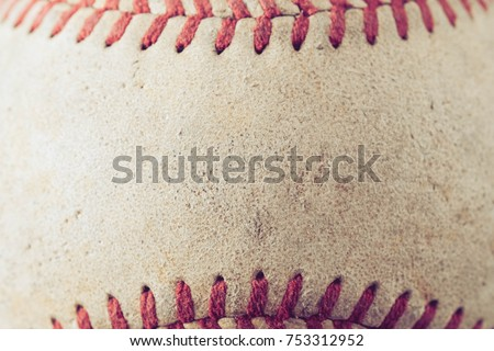 old Baseball on wood background with filter effect retro vintage style #753312952