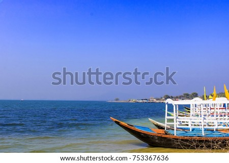A beautiful picnic spot in the bank of Barakar River beside the Mithon Dam at the border of West Bengal and Jharkhand in India.High,Best roalty free stock images,high resolution.