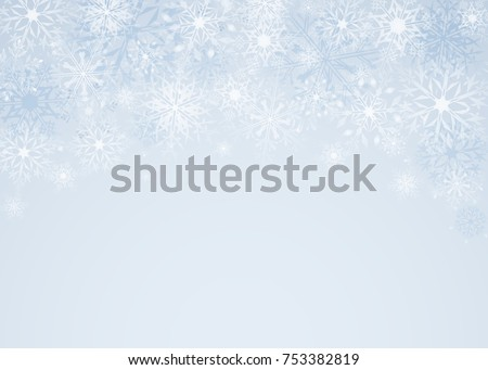 Christmas background with snowflakes. Greeting card or invitation. Merry Christmas and a happy new year. Element for design.