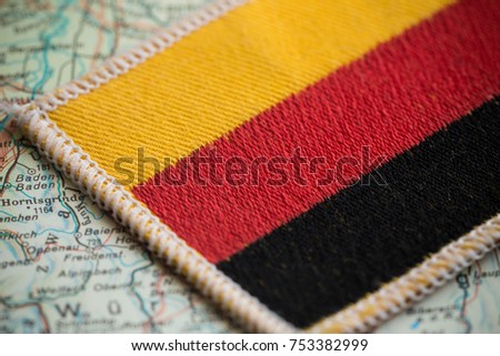 Germany flag on map #753382999