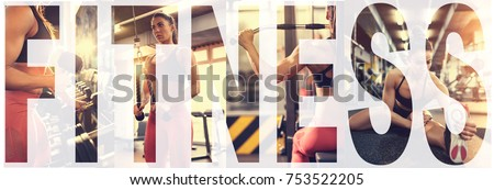 Fitness training collage  #753522205