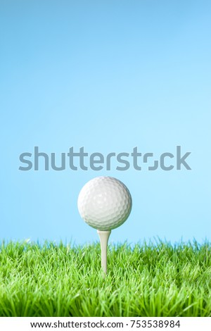Series of golfing equipment concept pictures.