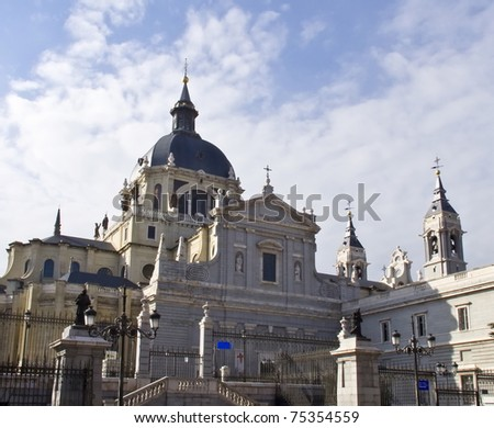Cathedral in Madrid #75354559