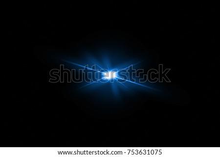 digital lens flare,sun burst on black background. #753631075