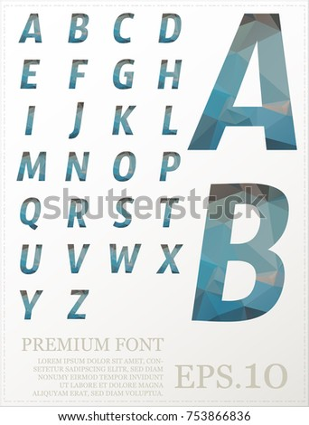 Set of font vector design lowpoly style colorful eps.10 #753866836