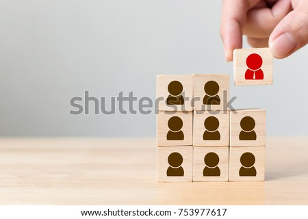 Human resource management and recruitment business concept Royalty-Free Stock Photo #753977617