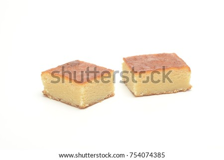 Toasted yolk nougat on white background #754074385