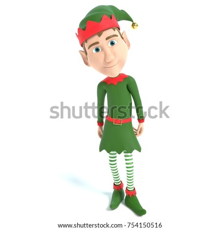 3d illustration of a Christmas Elf