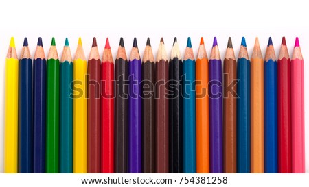 Color pencils isolated on a white background. #754381258