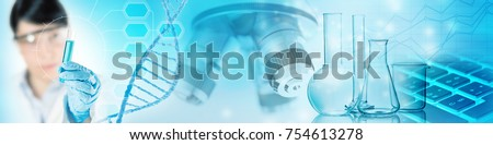 genetic research abstract concept, 3d illustration Royalty-Free Stock Photo #754613278