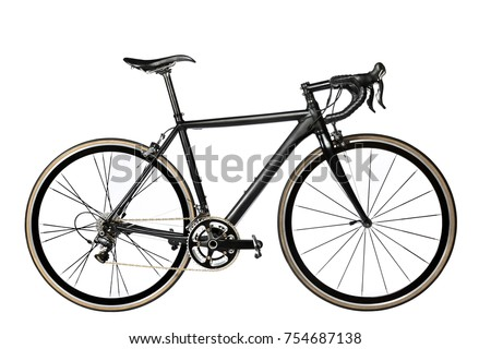 road bike on white background #754687138