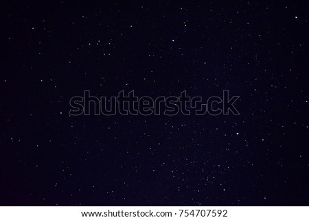 beautiful night sky and stars