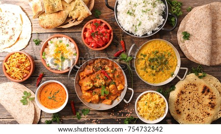 assorted indian food #754732342