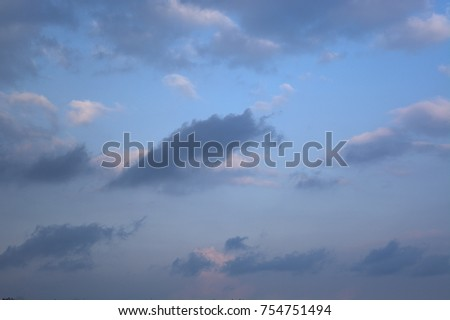 Cloudy blue sky background #754751494