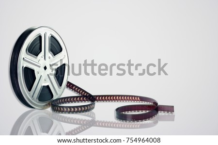 Movie Reel on White Background #754964008