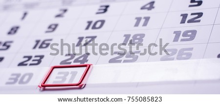 days of the week, calendar #755085823