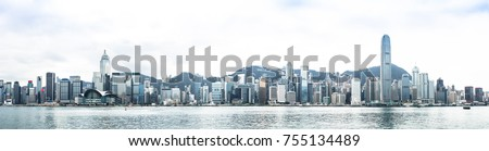 view of victoria harbour in Hong Kong