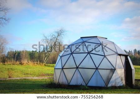 Geodesic Dome Greenhouse #755256268