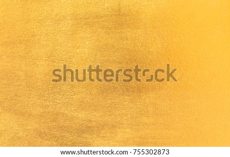 Shiny yellow leaf gold foil texture background #755302873