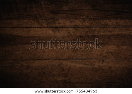 Old grunge dark textured wooden background,The surface of the old brown wood texture #755434963