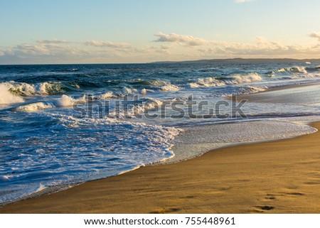 Beach at sunset view #755448961