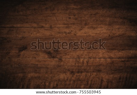 Old grunge dark textured wooden background,The surface of the old brown wood texture Royalty-Free Stock Photo #755503945