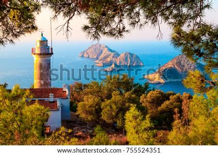 Gelidonya lighthouse on Lycian Way #755524351