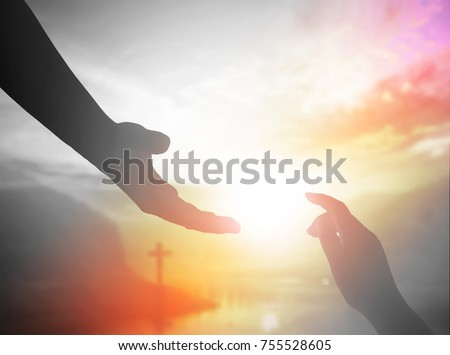 World Day of Remembrance: God's helping hand  Royalty-Free Stock Photo #755528605