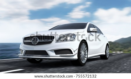 Luxury car 3d rendering #755572132