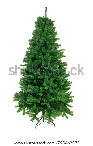 Christmas Tree isolated on white background #755662975