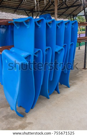 rubber sheet for play water slider  in a water park #755671525