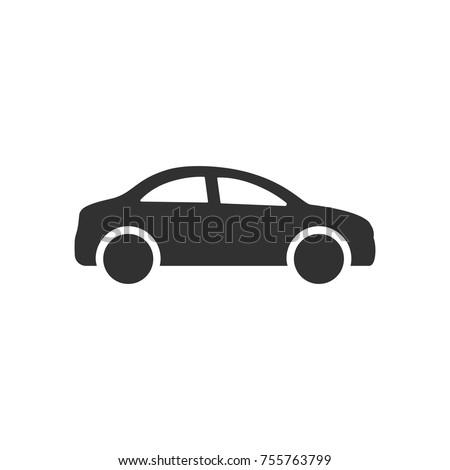 Car. monochrome icon Royalty-Free Stock Photo #755763799