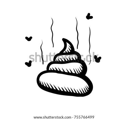 Digital illustration of a poop doodle