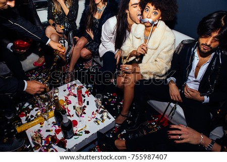 New year party celebration in the club #755987407