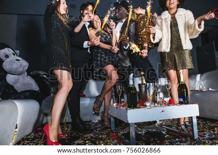 New year celebration party in the club #756026866