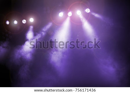 The concert on stage background with flood lights Royalty-Free Stock Photo #756171436