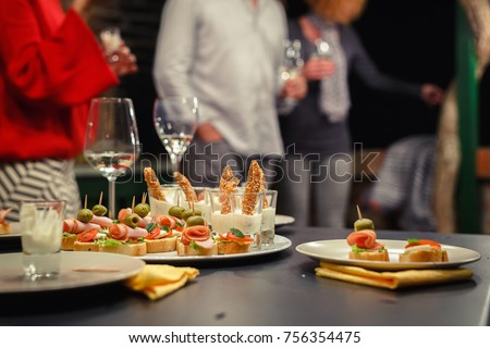 Food finger party. Party time in backyard Royalty-Free Stock Photo #756354475